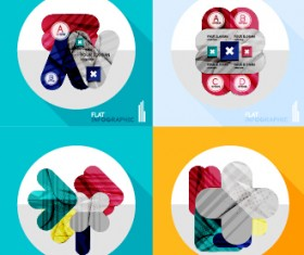 Creative infographic flat icons vector 05