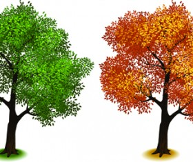 Creative isometric trees design vector 01