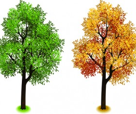 Creative isometric trees design vector 02