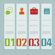Link toCreative number business banner vector material 02