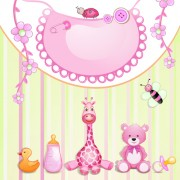 Link toCute baby cards creative design graphics vector 02