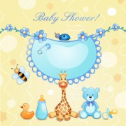 Link toCute baby cards creative design graphics vector 04