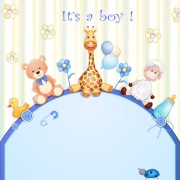 Link toCute toy with baby card vector 03