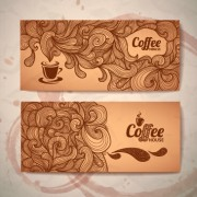 Link toDelicate coffee cards design vector material 01