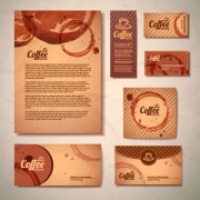 Link toDelicate coffee cards design vector material 02