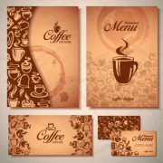 Link toDelicate coffee cards design vector material 03