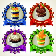 Link toDessert with sweet creative labels vector