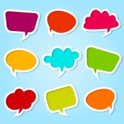 Link toDifferent colored speech bubbles vector