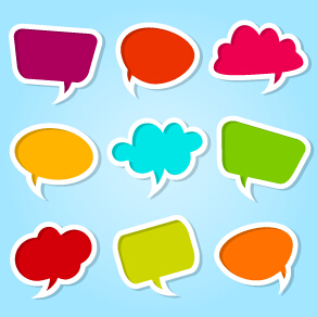 different colored speech bubbles vector over millions
