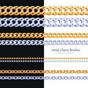 Link toDifferent metal chain borders vector set 03