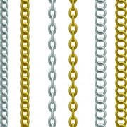 Link toDifferent metal chain borders vector set 04