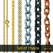 Link toDifferent metal chain borders vector set 06