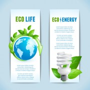 Link toEcology with energy saving banners vector 02