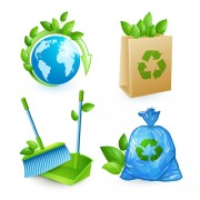 Ecology with environmental icons vector