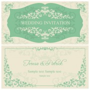 Link toElegant floral decorative wedding invitation vector cards 03