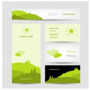Link toFresh scenery card creative vector