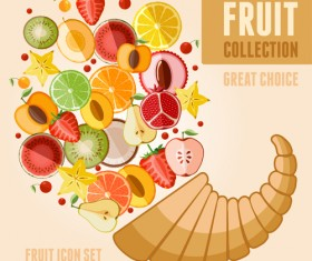Fruit poster design vector graphics