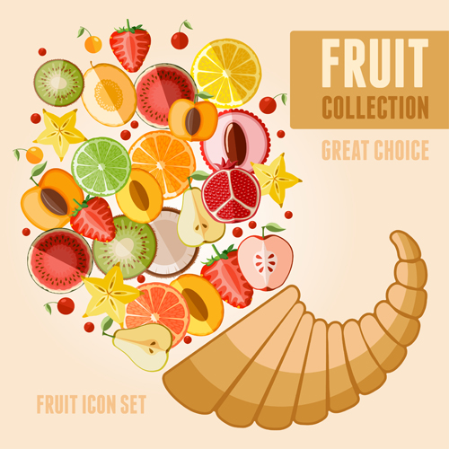Fruit Poster Design Vector Graphics