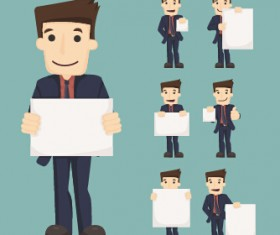 Funny business people character creative vector 01