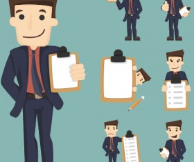 Funny business people character creative vector 02