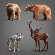 Link toGeometric shapes wild animals creative vector set 04