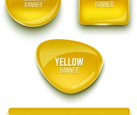 Glass textured color banners graphic vector 03