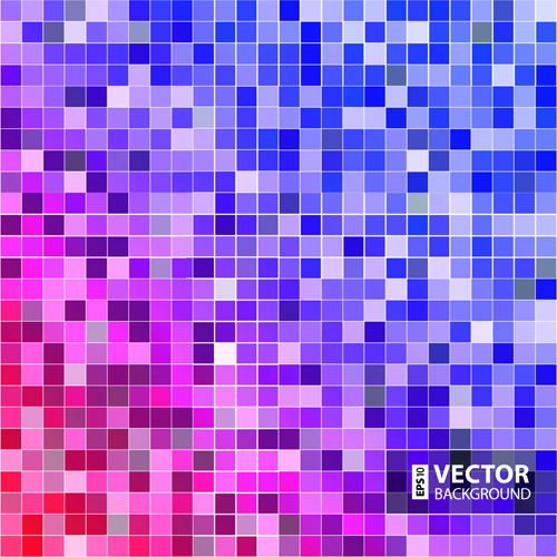 Gloss color mosaic background graphic vector 02 - Vector Background HD Wide Wallpaper for Widescreen