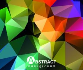 Gloss geometric polygonal vector background art 01