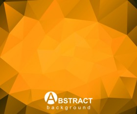 Gloss geometric polygonal vector background art 02