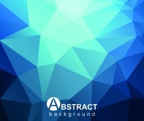 Gloss geometric polygonal vector background art 03