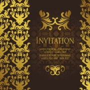 Link toGold luxury invitation card template vector