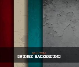 Grunge textures vector background set