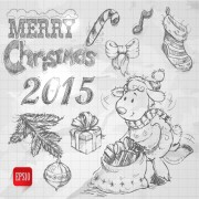 Link toHand drawn christmas 2015 sheep year elements vector 02