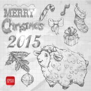 Link toHand drawn christmas 2015 sheep year elements vector 04