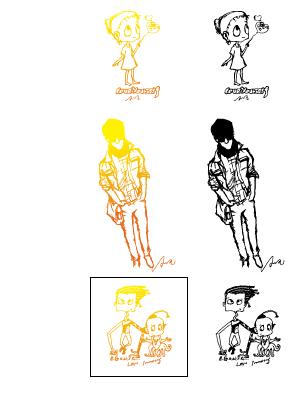 Hand drawn cartoon characters vector 01