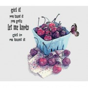 Link toHand drawn cherries and butterflies vector