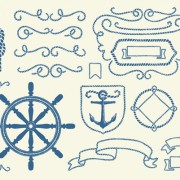 Link toHand drawn nautical elements vector material 02