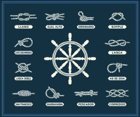 Hand drawn nautical elements vector material 05