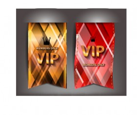 Luxury VIP flags vector graphics