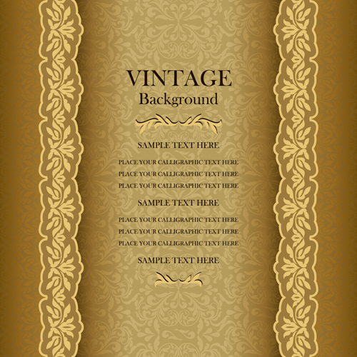 Old Fashioned Wedding Songs: Luxury Design Vintage Backgrounds Vector 02 Free Download