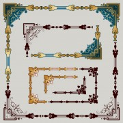 Link toLuxury ornament frame with corners vector
