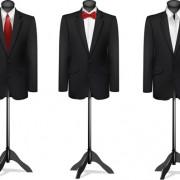 Men suits design template vector 01