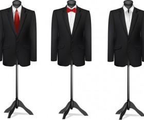 Men suits design template vector 01