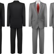 Men suits design template vector 02
