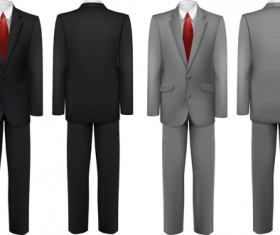 Men suits design template vector 02