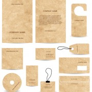Link toModern business cards kit vector 01