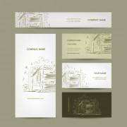 Link toModern business cards kit vector 02