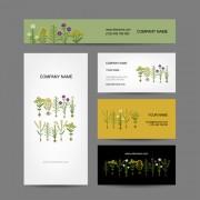 Link toModern business cards kit vector 03