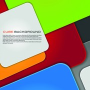 Link toModern cube background vector graphics 02