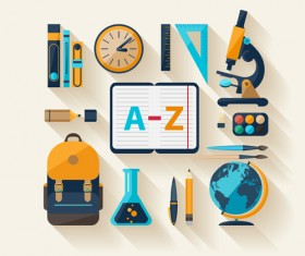 Modern education icons vector material 02